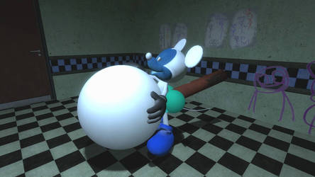 Photo Negative Mickey Belly Inflation  by SCP-096-2