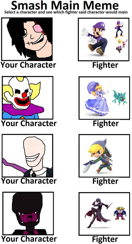 Character Smash Main Meme