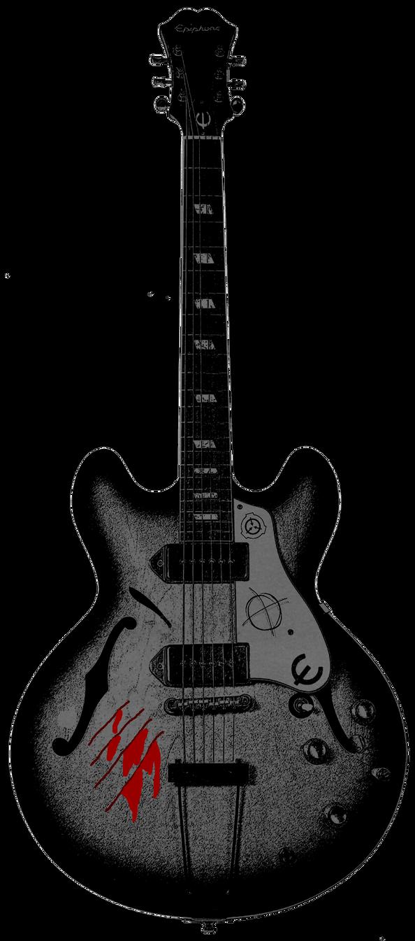 My Custom John Lennon Guitar