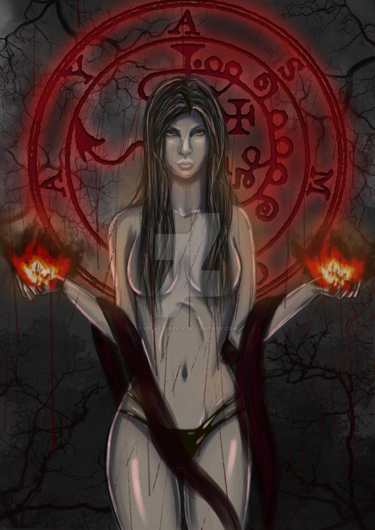 The Blood Witch: Gwynn by velvetlace-x