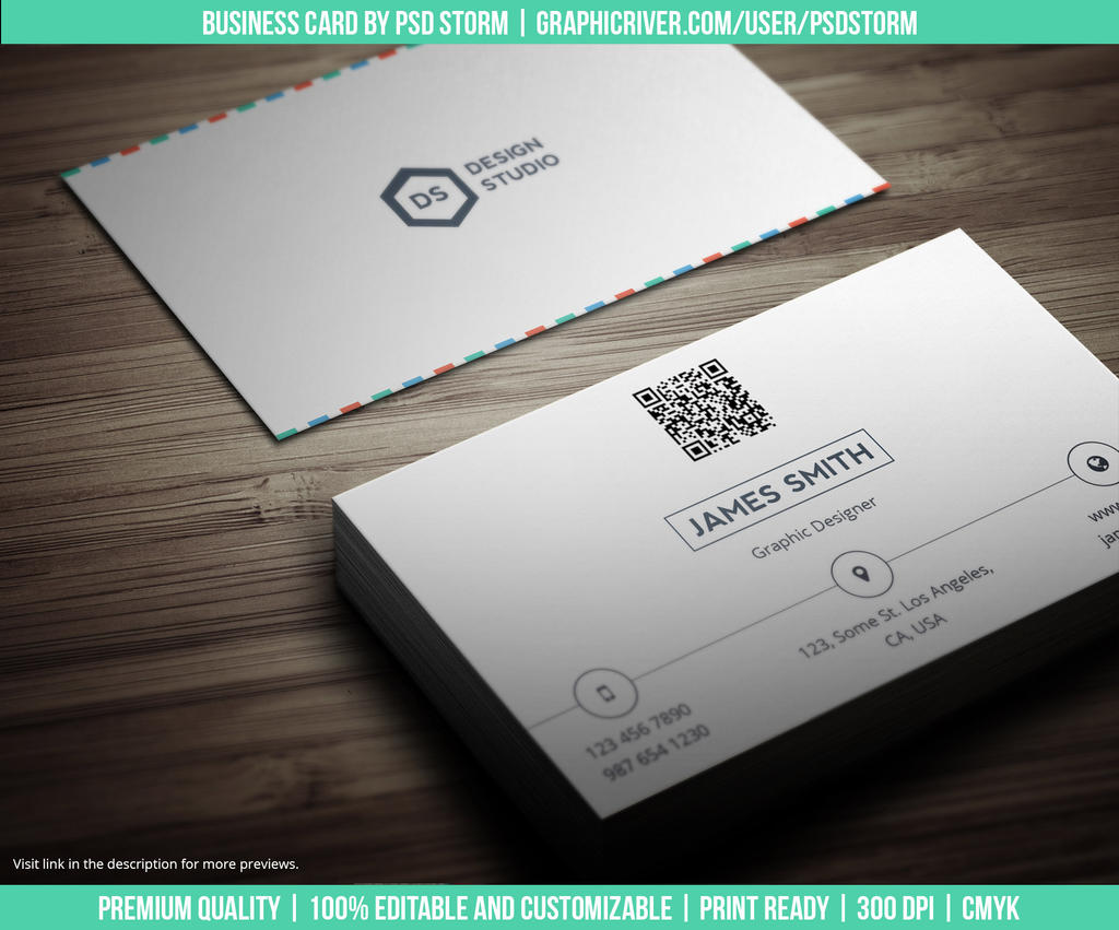 Creative and Minimal Business Card Template by psdstorm on DeviantArt