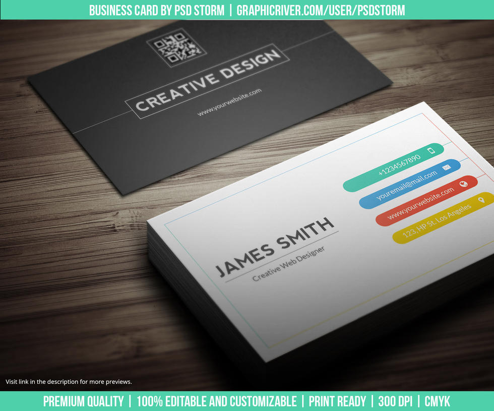 Creative and Minimal Business Card Template Vol 2 by psdstorm on ...