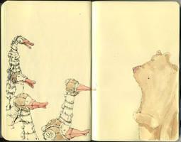 Cyberducks and a blase bear by MattiasA