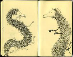 Moleskine dragons by MattiasA