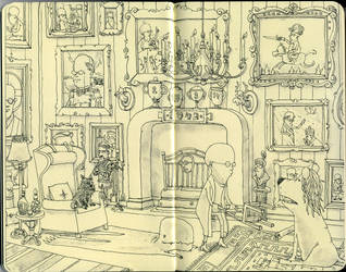 A lion in the drawing room by MattiasA
