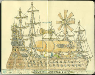 HMS Hornblower in color by MattiasA