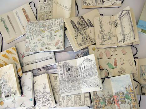 Sketchbooks in a different lig