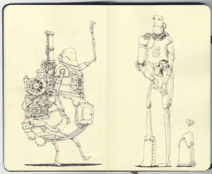 Three robots by MattiasA