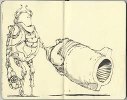 Left handed robot by MattiasA