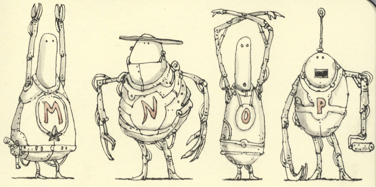 Robot alphabetics M to P by MattiasA