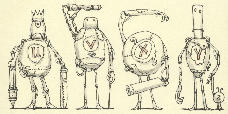Robot alphabetics U to Z by MattiasA
