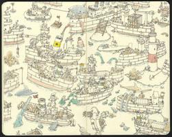 Ships and fish by MattiasA
