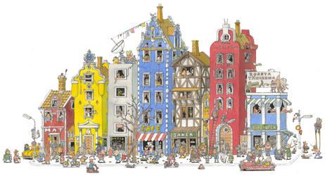 Street scene by MattiasA