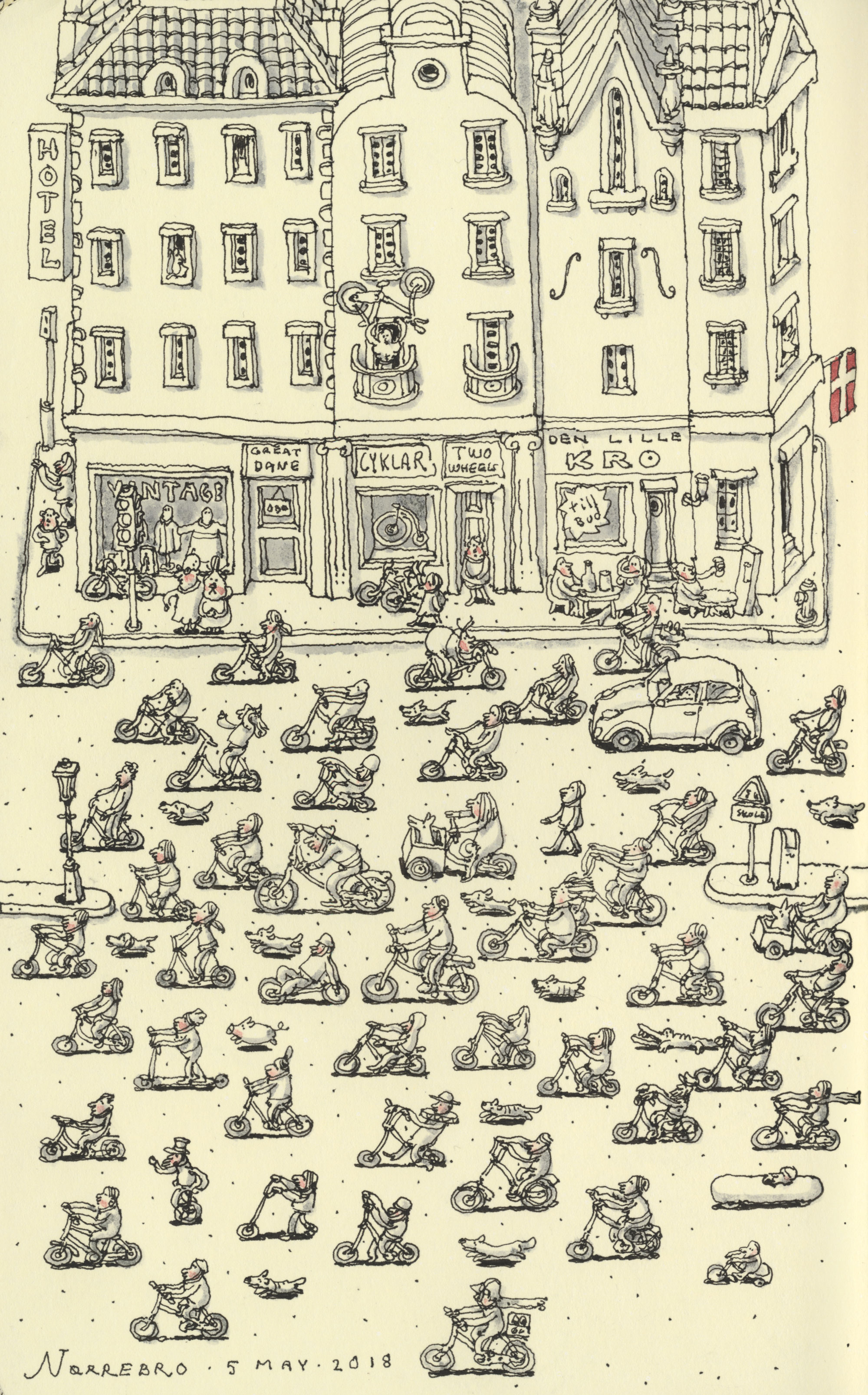 Copenhagen rush hour by MattiasA