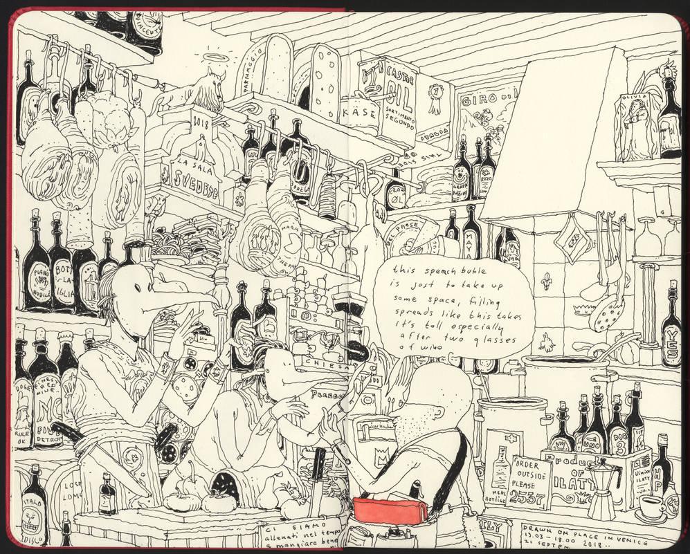 The Osteria, drawn on location in Venice by MattiasA