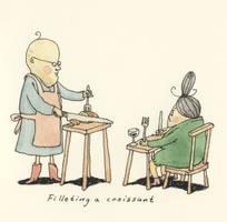 Filleting a Croissant