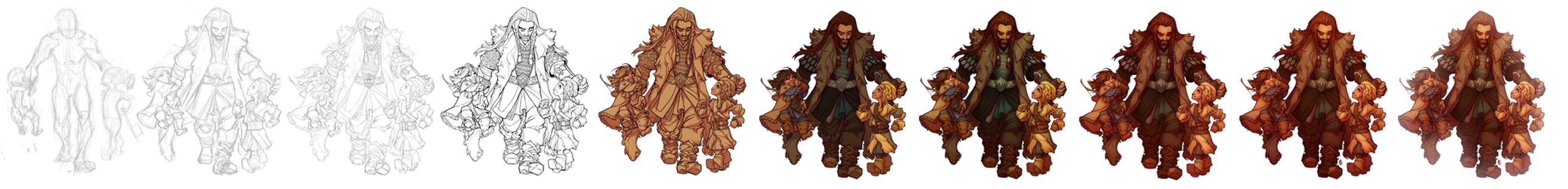 Sons of Durin - Process by dapper-commissions