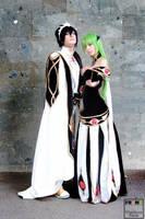 C.C.-Lelouch Code Geass_ Empress-Emperor dresses by LadyNeissa