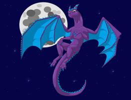 Lunaris the dragon by IVISEK