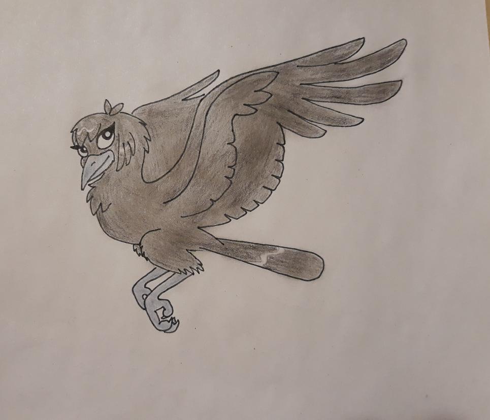 Lilien as a crow doodle by IVISEK