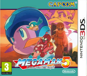 Megaman 5 3DS boxart by DBurch01