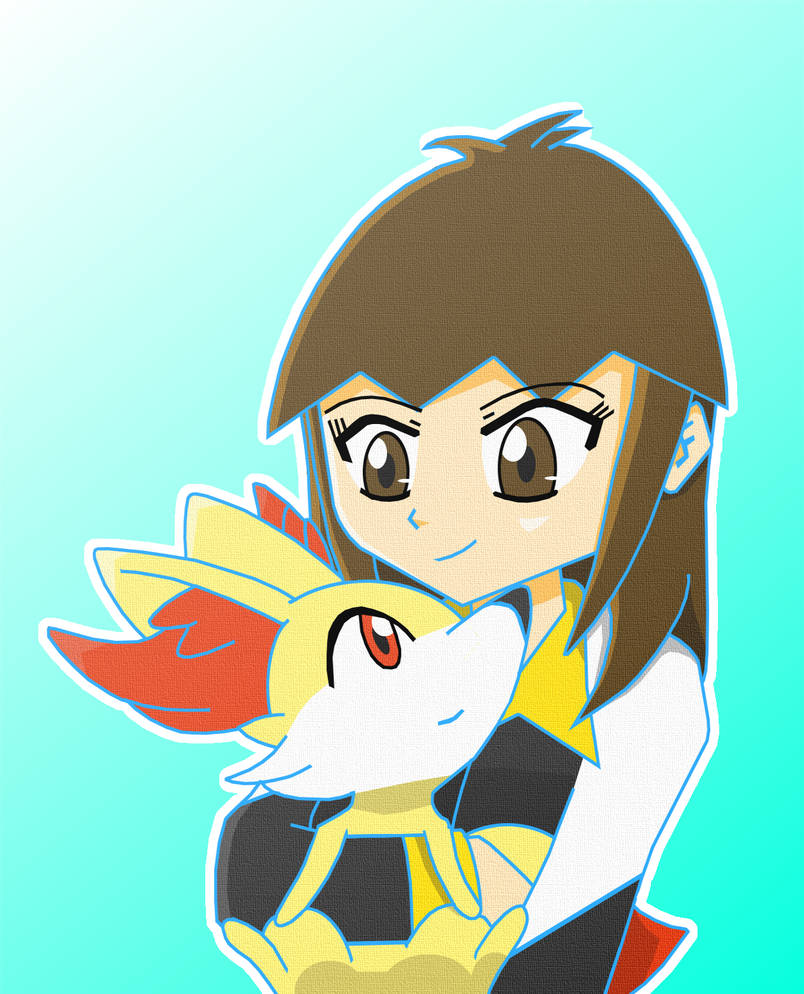 One Claire and her Fennekin