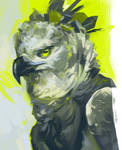 Harpy green by Moldovorot