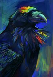 Neon raven