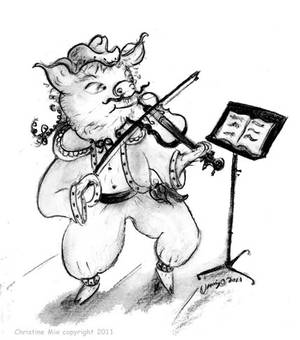 Fiddle Pig, by Christine Mix