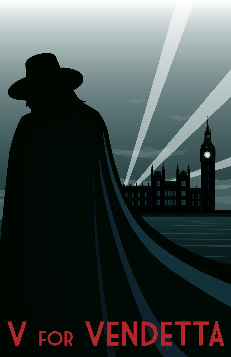 V For Vendetta Movie Poster Art Deco: V for Vendet...
