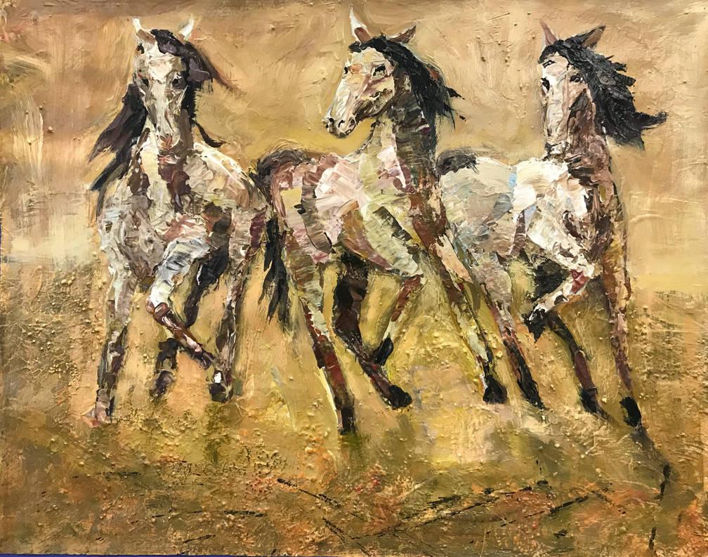 Chevaux de sable by Ellisis