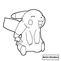 Pikachu Lineart by Artic-Shadow