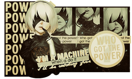 [Out] POWER - 2B by D-iara