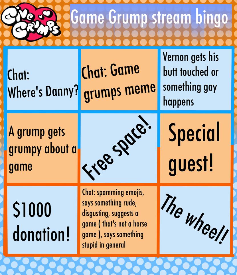 Game grump stream bingo by ASinglePetal