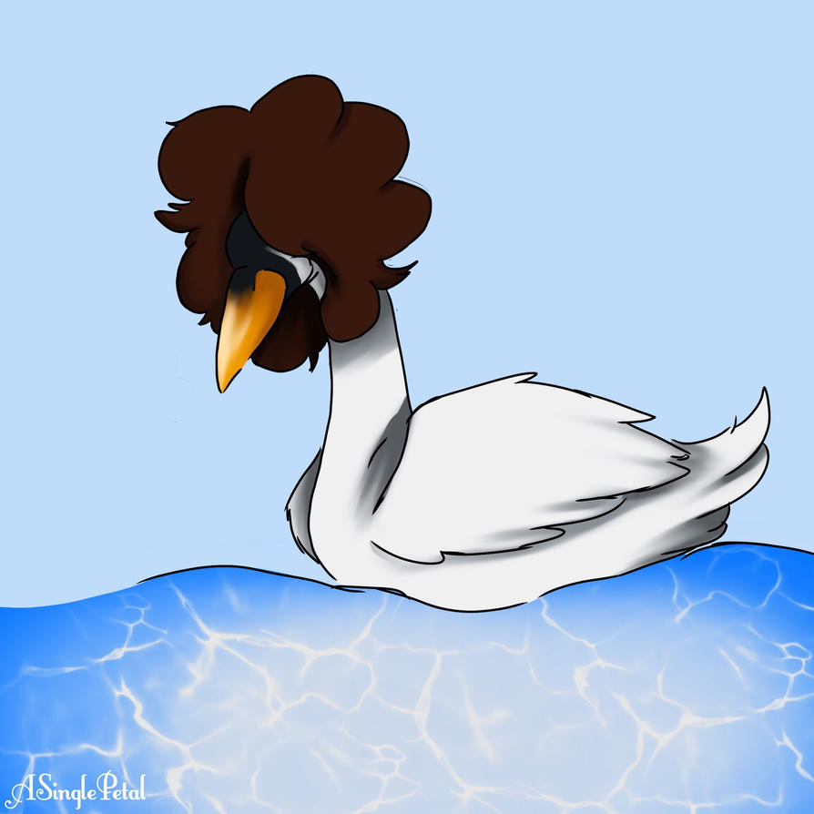 Danny the swan  by ASinglePetal