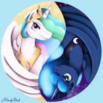 Sun and Moon Ying Yang by ASinglePetal