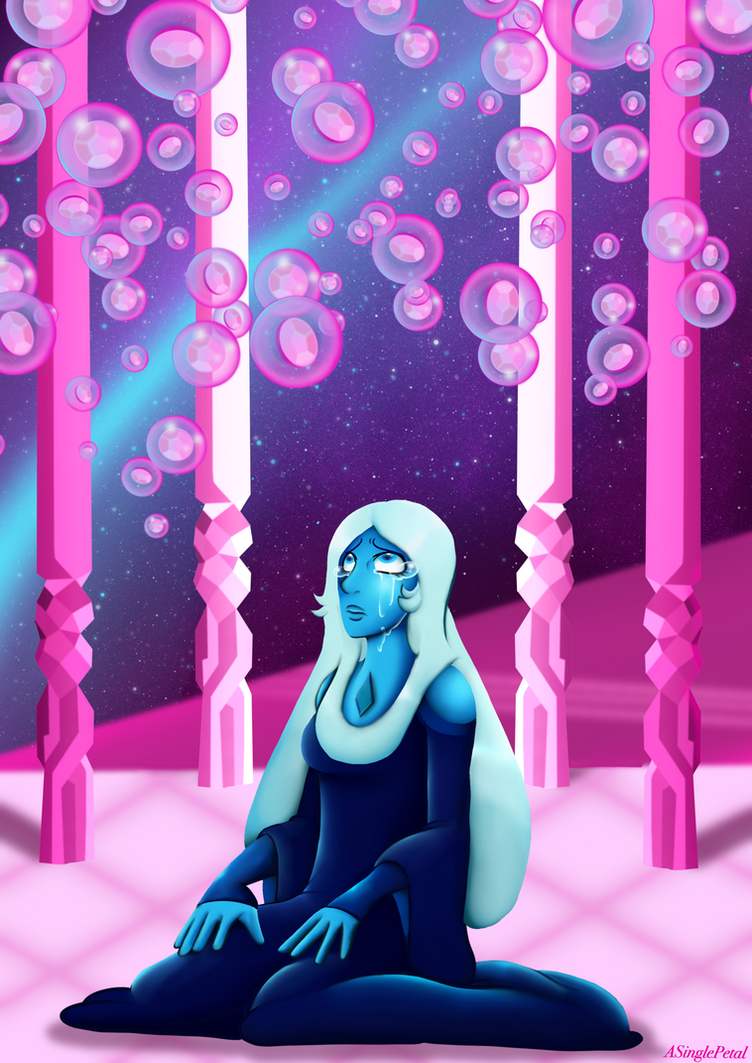 I did it I finished a quick ( 15 hour ) new print of blue diamond from Steven universe for AmeCon