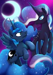 Nightmare Rarity vs Luna by ASinglePetal