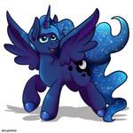 Princess Luna - sticker  by ASinglePetal