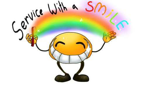Aha wa   wa service with a smile