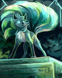 [1HR SPEEDPAINT COMM] A Powerful Kitsune