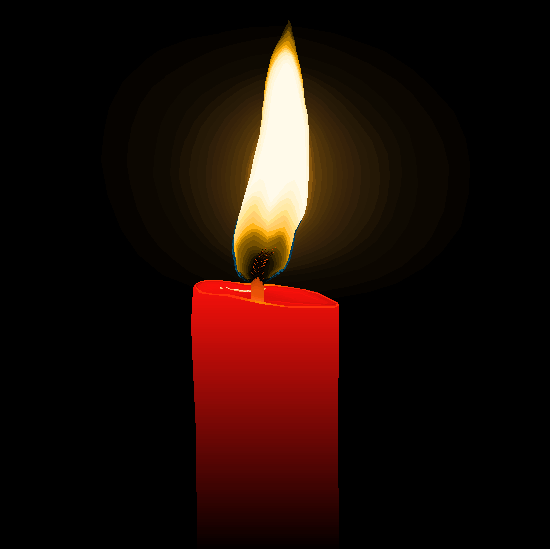 MS Paint Candle by SinglePost