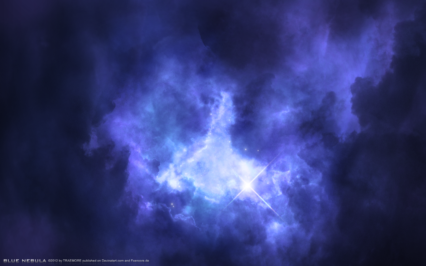 blue nebula by traemore on deviantart