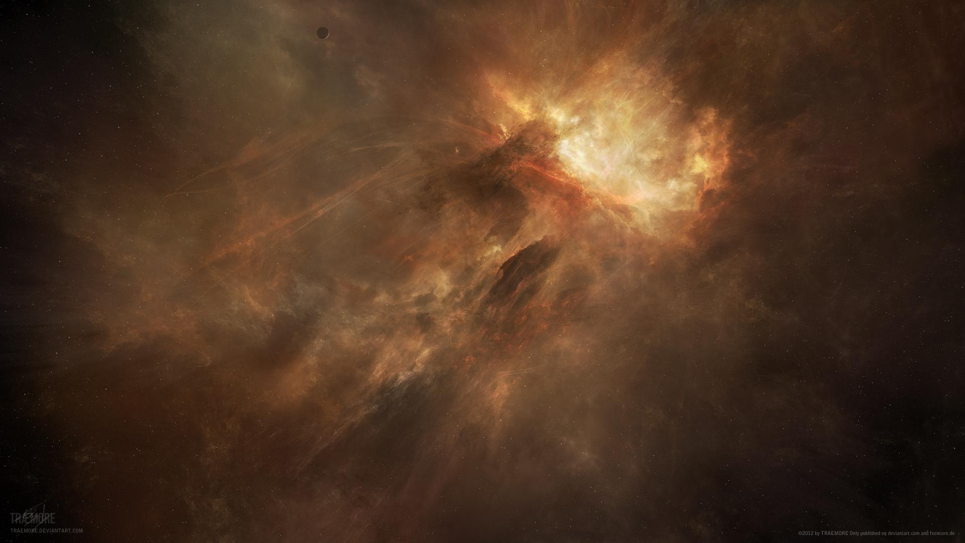 Inferno Nebula by TRAEMORE