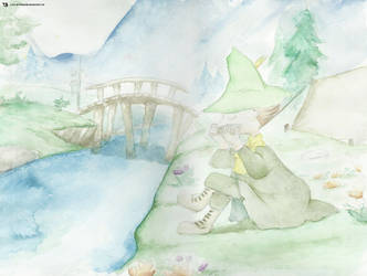 Snufkin Aquarell by TRAEMORE
