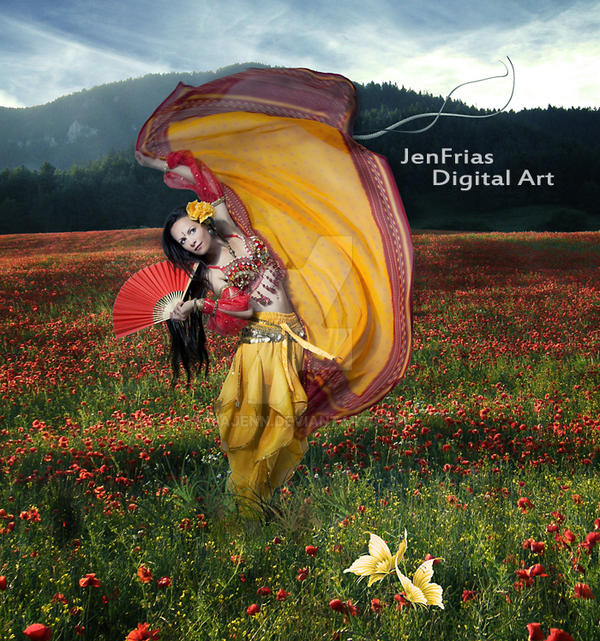 Dancing in the field by jiajenn