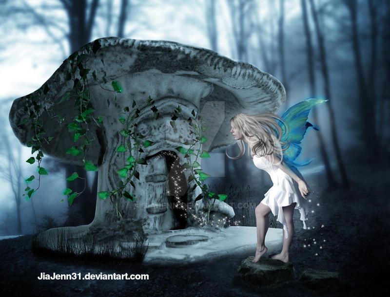Cute Mushroom house by jiajenn