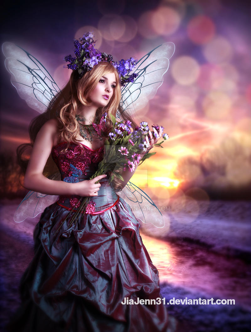 Fairy and sunrise by jiajenn