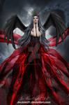 Mervilina Gothic Angel Red