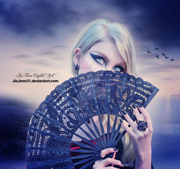 Hidden behind my fan